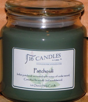 Patchouli ~ 16 Oz Soy Candle - Shop16Candles