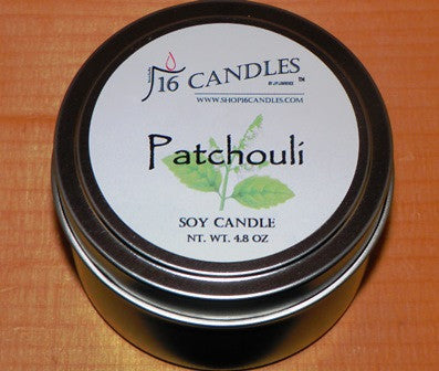 Patchouli ~ Small Tin Soy Candle