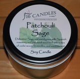 Patchouli Sage ~ Large 2 Wick Tin