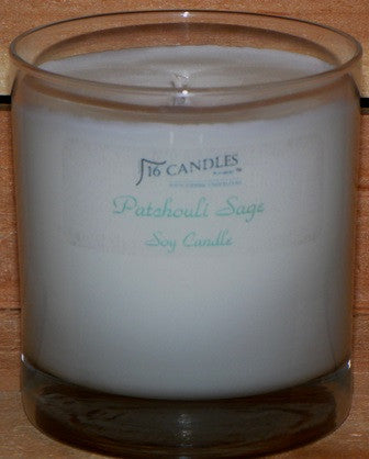 Patchouli Sage ~ Tumbler Glass Soy Candle