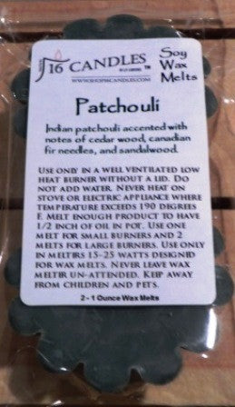 Patchouli ~ Scented Wax Melts - 16 Candles by J.P. Lawrence