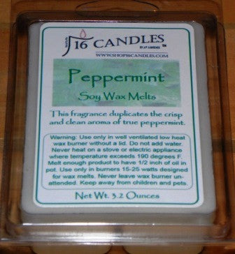 Peppermint ~ Soy Wax Melts - 16 Candles by J.P. Lawrence