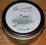 Pine ~ Large 2 Wick Tin