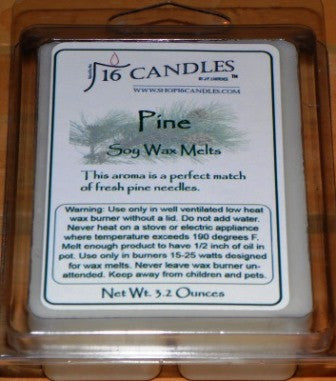 Pine ~ Soy Wax Melts - 16 Candles by J.P. Lawrence