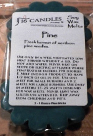 Pine ~ Scented Wax Melts - 16 Candles by J.P. Lawrence