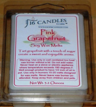 Pink Grapefruit ~ Soy Wax Melts - 16 Candles by J.P. Lawrence