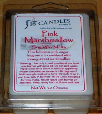 Pink Marshmallow ~ Soy Wax Melts - 16 Candles by J.P. Lawrence