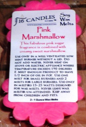 Pink Marshmallow ~ Scented Wax Melts - 16 Candles by J.P. Lawrence