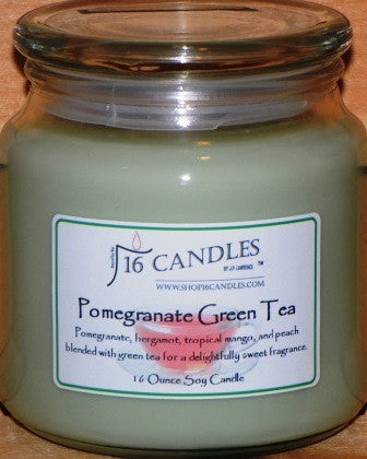 Pomegranate Green Tea ~ 16 Oz Soy Candle - Shop16Candles