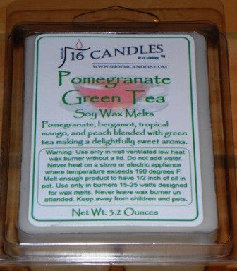 Pomegranate Green Tea ~ Soy Wax Melts - 16 Candles by J.P. Lawrence