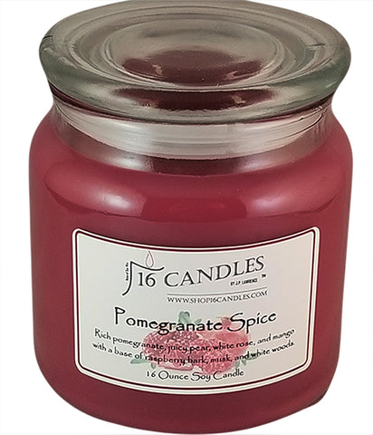 Pomegranate Spice ~ 16 Oz Soy Candle