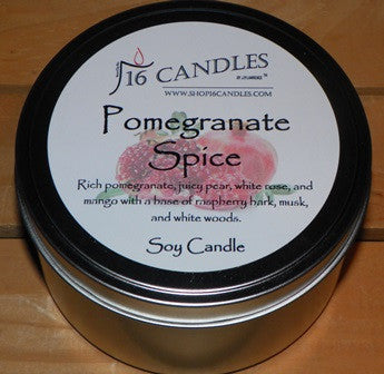 Pomegranate Spice ~ Large 2 Wick Tin