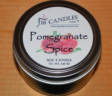 Pomegranate Spice ~ Small Tin Soy Candle