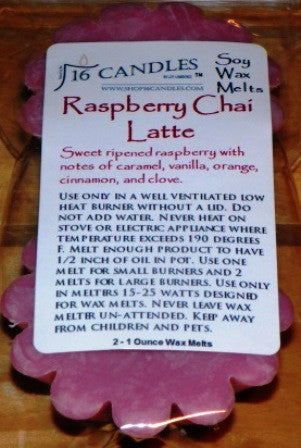 Raspberry Chai Latte ~ Scented Wax Melts - 16 Candles by J.P. Lawrence
