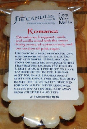 Romance - Scented Wax Melts - 16 Candles by J.P. Lawrence
