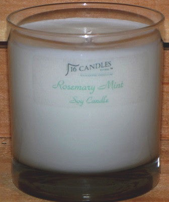 Rosemay Mint ~ Tumbler Glass Soy Candle