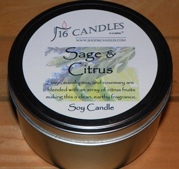 Sage & Citrus ~ Large 2 Wick Tin