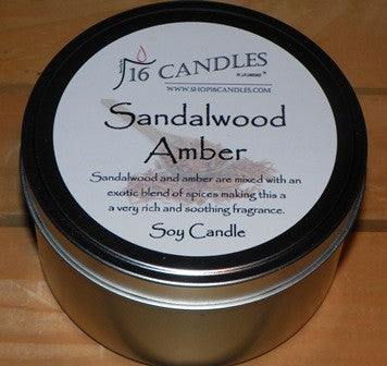 Sandalwood Amber ~ Large 2 Wick Tin