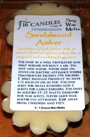 Sandalwood Amber ~ Scented Wax Melts - 16 Candles by J.P. Lawrence