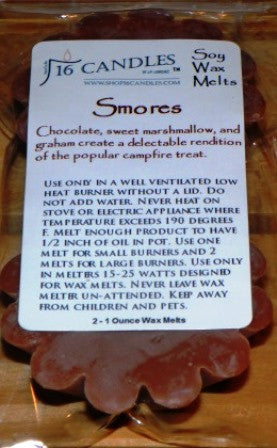 Smores ~ Scented Wax Melts - 16 Candles by J.P. Lawrence