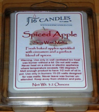 Spiced Apple ~ Soy Wax Melts - 16 Candles by J.P. Lawrence