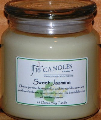 Sweet Jasmine ~ 16 Oz Soy Candle - Shop16Candles