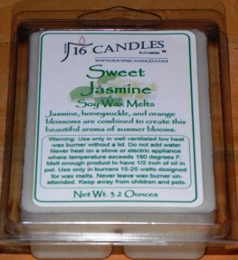 Sweet Jasmine ~ Soy Wax Melts - 16 Candles by J.P. Lawrence