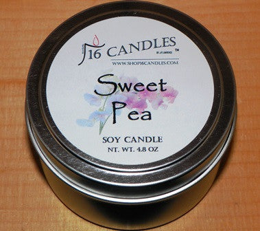 Sweet Pea ~ Small Tin Soy Candle