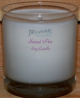 Sweet Pea ~ Tumbler Glass Soy Candle