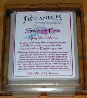 Sweet Pea ~ Soy Wax Melts - 16 Candles by J.P. Lawrence