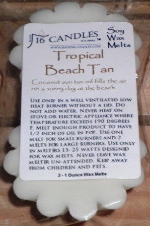 Tropical Beach Tan ~ Scented Wax Melts