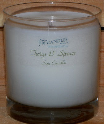 Twigs O Spruce ~ Tumbler Glass Soy Candle