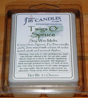 Twigs O Spruce ~ Soy Wax Melts - 16 Candles by J.P. Lawrence