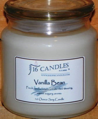 Vanilla Bean ~ 16 Oz Soy Candle - Shop16Candles