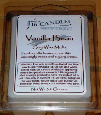Vanilla Bean ~ Soy Wax Melts - 16 Candles by J.P. Lawrence