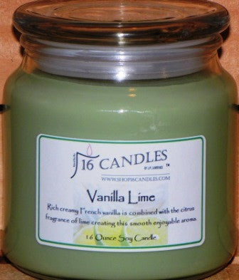 Vanilla Lime ~ 16 Oz Soy Candle - Shop16Candles