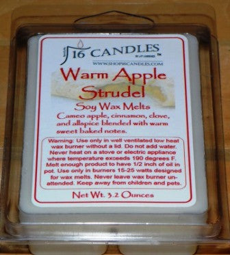 Warm Apple Strudel ~ Soy Wax Melts - 16 Candles by J.P. Lawrence