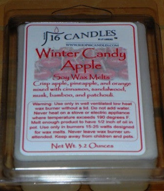 Winter Candy Apple ~ Soy Wax Melts - 16 Candles by J.P. Lawrence