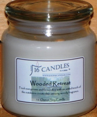 Wooded Retreat ~ 16 Oz Soy Candle - Shop16Candles