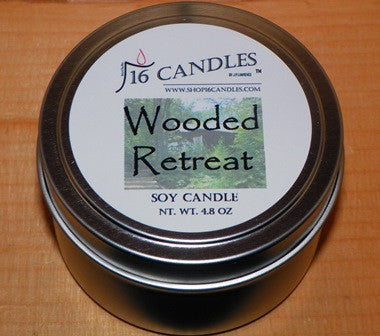 Wooded Retreat ~ Small Tin Soy Candle