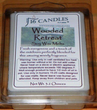 Wooded Retreat ~ Soy Wax Melts - 16 Candles by J.P. Lawrence