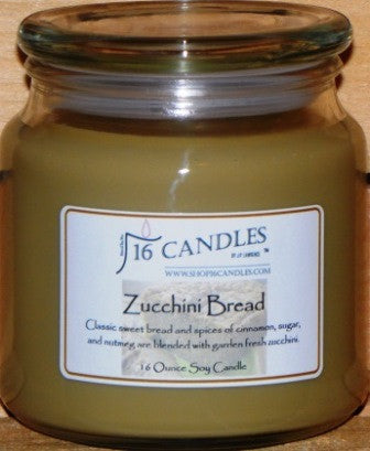 Zucchini Bread ~ 16 Oz Soy Candle - Shop16Candles