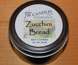 Zucchini Bread ~ Small Tin Soy Candle