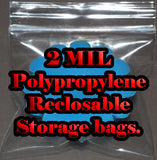 Polypropylene Storage Bags ~ Reclosable