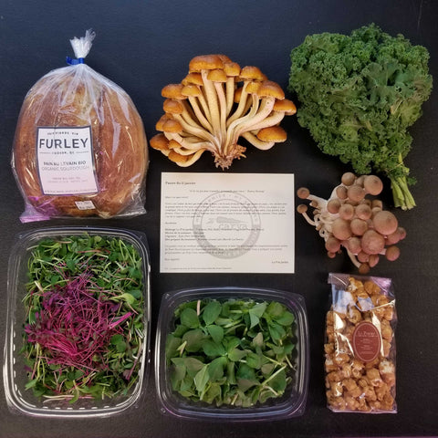 Le P'tit Jardin Weekly Basket - February Subscription ($35/wk for 4 wks)
