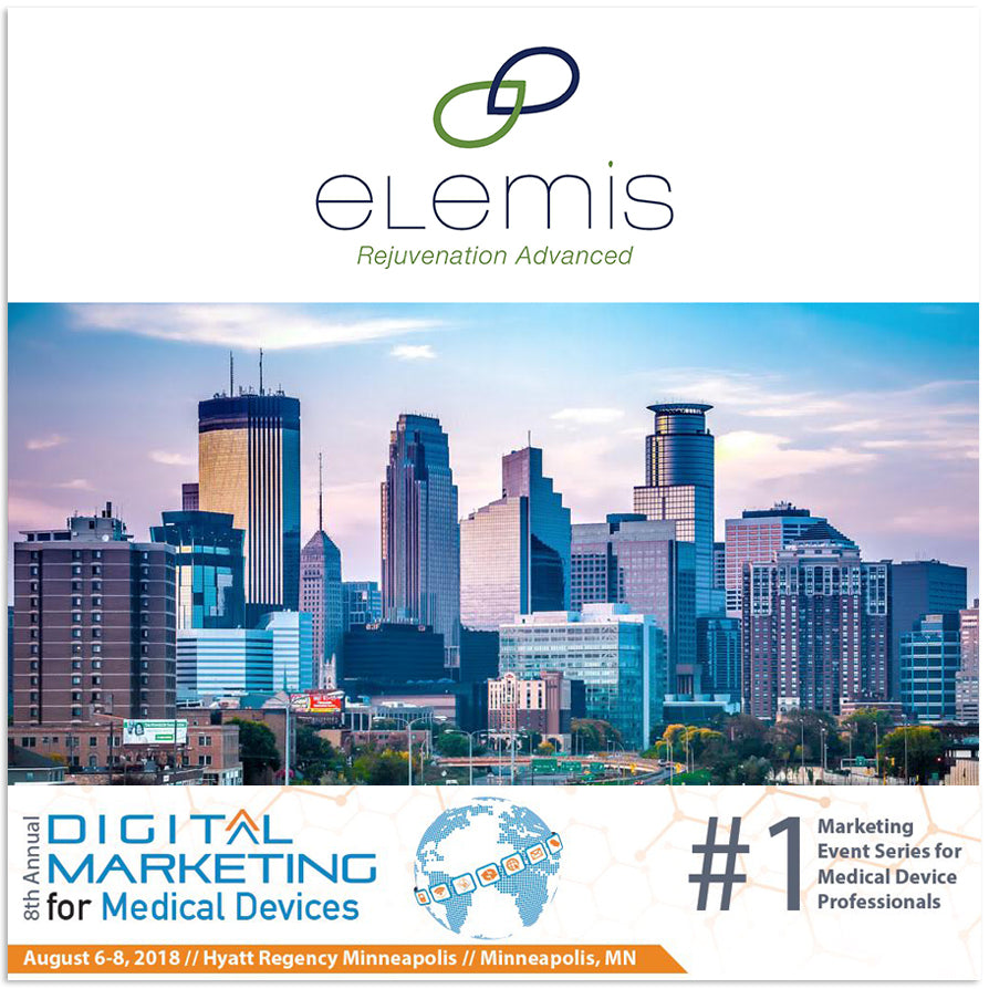 Elemis to attend The 8th Annual Digital Marketing for Medical Devices in Minneapolis, MN!