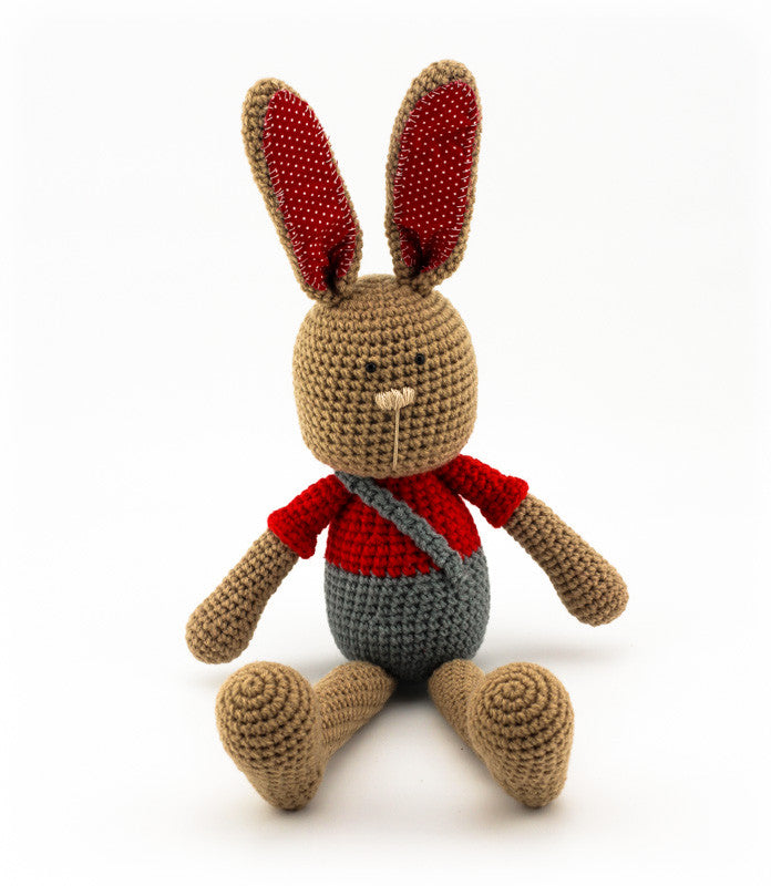 Benji Bunny Red and Grey - Front