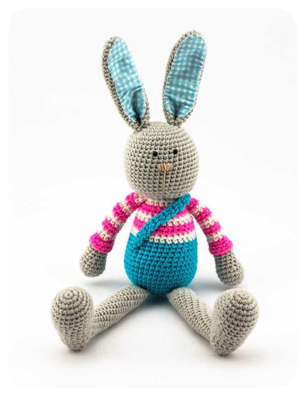 Benji Bunny Pink and Blue - Front
