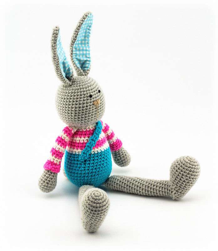 Benji Bunny Pink and Blue - Side