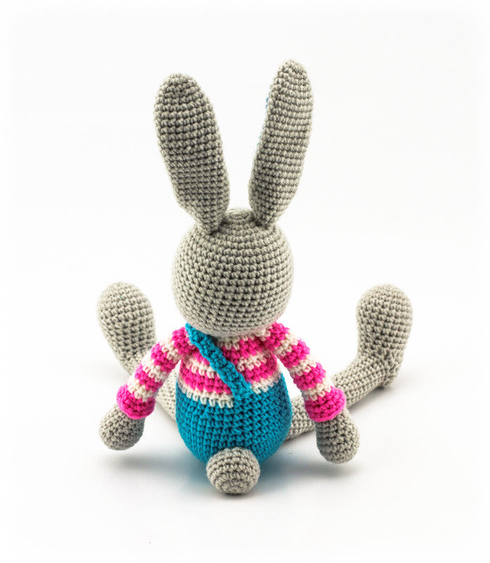 Benji Bunny Pink and Blue - Back